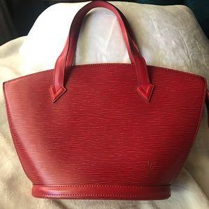 Louis Vuitton Epi red Satchel